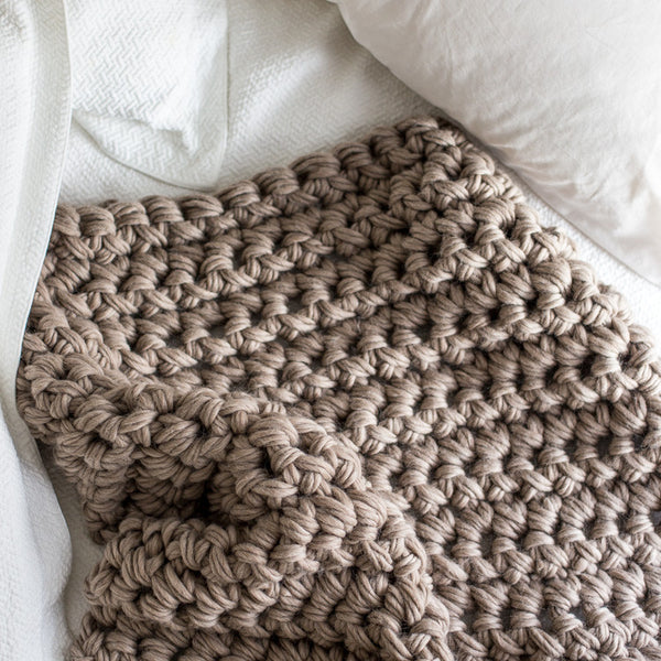 Hand Crochet Patterns : Chunky Hand Crochet Throw Pattern - Flax and Twine