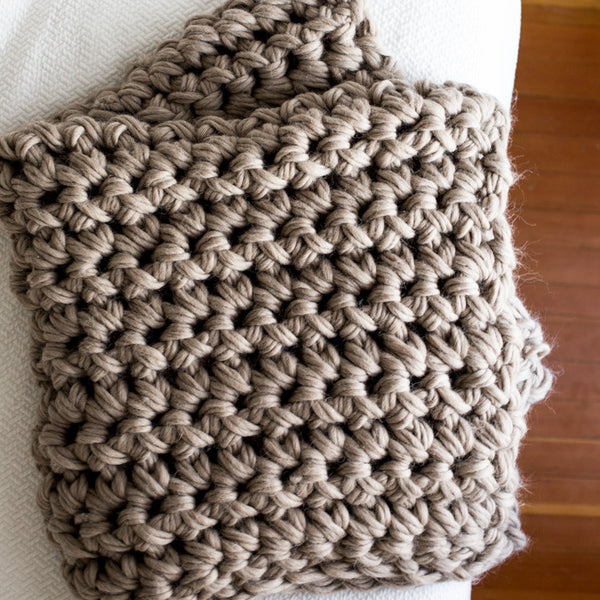 Crochet Throw Blanket Kit (Hand Crochet)