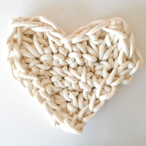 A Giant Hand Crocheted Heart Pattern