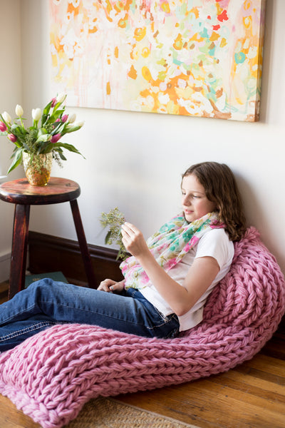 Lazy Lounger Arm Knit Pillow Pattern