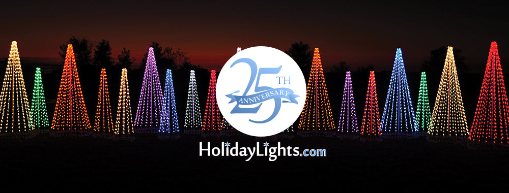 HolidayLights.com is celebrating 25 years in 2019 of serving their loyal customers timeless and durable holiday displays.