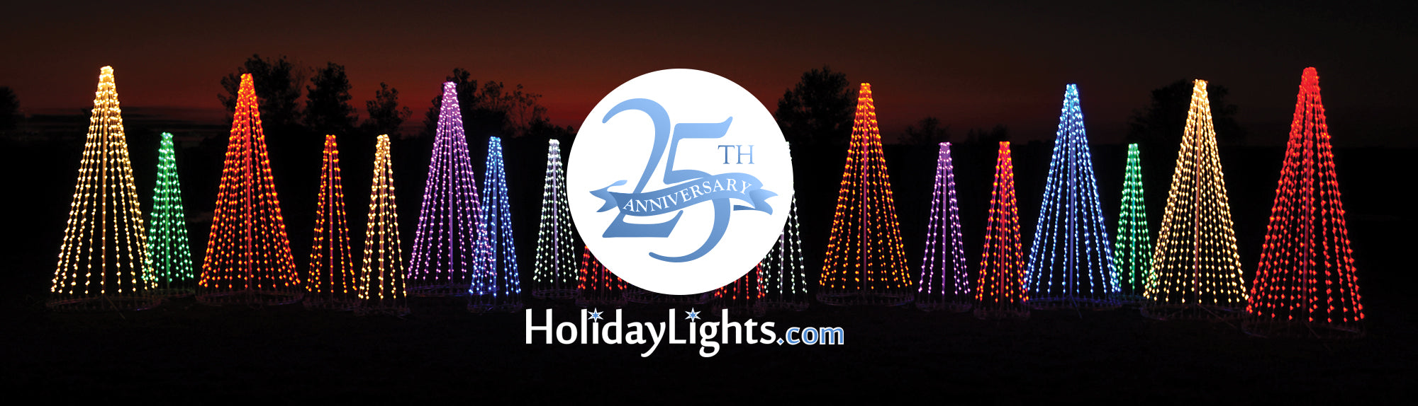 2019 Holiday Lights Display LED Trees Bulbs Strings Commercial Display Christmas Season HolidayLights.com