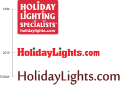 HolidayLights.com 2019 logo celebrating 25 years