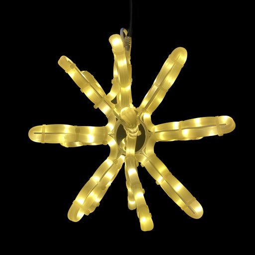 3-D LED Starburst, Illuminating, tree ornament, three-dimensional, hanging, warm white, star burst, rope light decoration, 2021