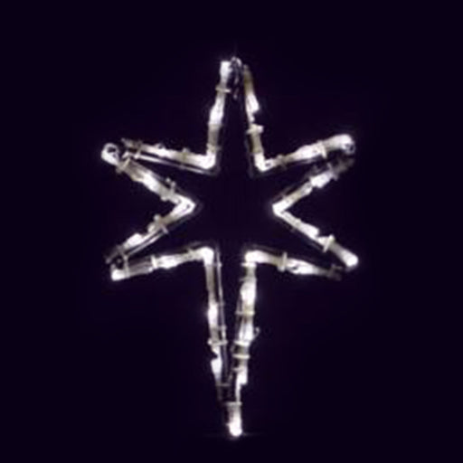 outdoor, indoor, LED, lights, quality, durable, commercial-grade, light motif, Christmas, holiday decoration, 2021, religious, star, star of Bethlehem, pure white