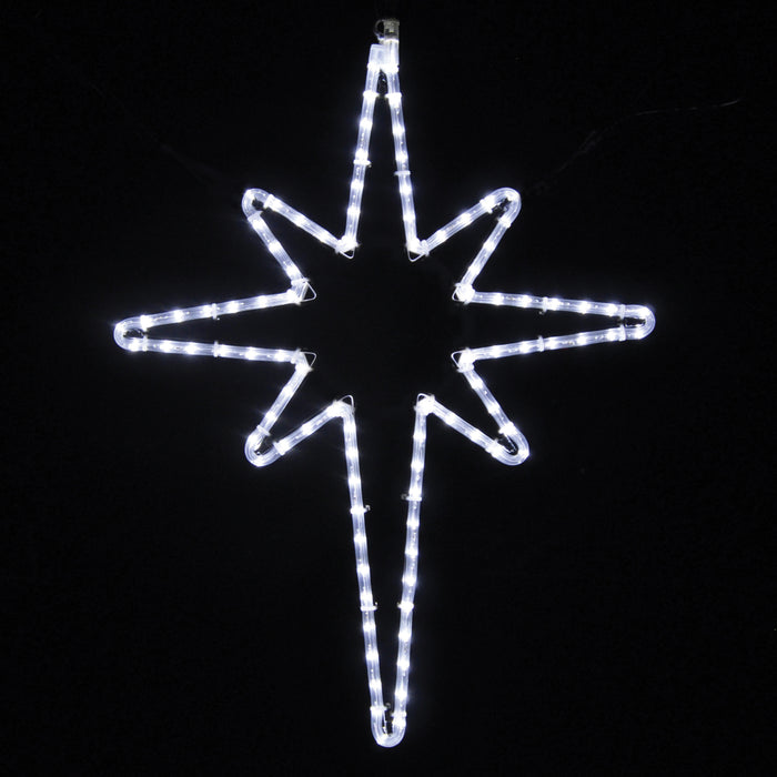 outdoor, indoor, LED, lights, quality, durable, commercial-grade, light motif, Christmas, holiday decoration, 2021, religious, nativity, star, star of Bethlehem, pure white