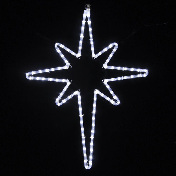 Star Of Bethlehem Outdoor Light Outdoor star of bethlehem light christmas lights holidaylights star of bethlehem pure white led ropelight 1052 p workwithnaturefo