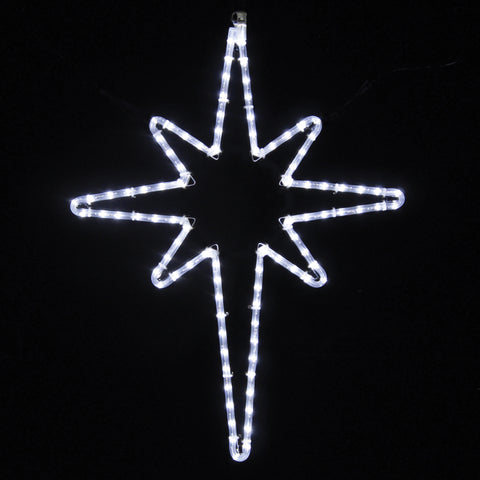 Star of Bethlehem  - Pure White LED Ropelight (1052-P)