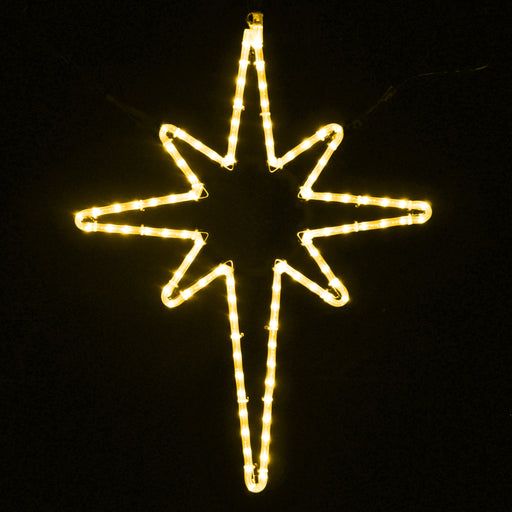 Star of Bethlehem rope light hanging motif, Warm White, Nativity, Religious, Holiday Outdoor decoration