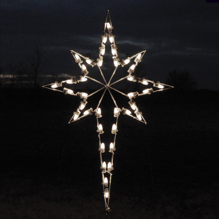 Large Star of Bethlehem Light - Pure White (1053-P)