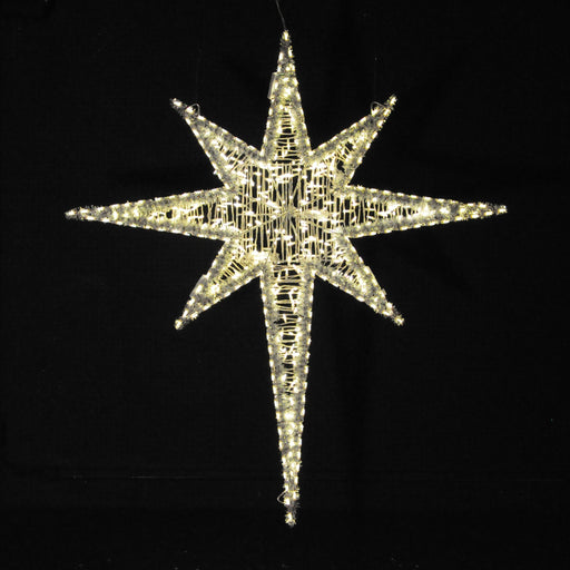 Moravian Star outdoor hanging motif, Nativity, pole mount, holiday decoration