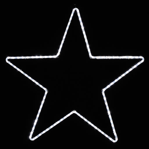 Large, 5-Point Star, White, giant, life-size, commercial-grade, outdoor, Christmas, holiday, LED, rope, light, quality, durable, motif, display, 2021