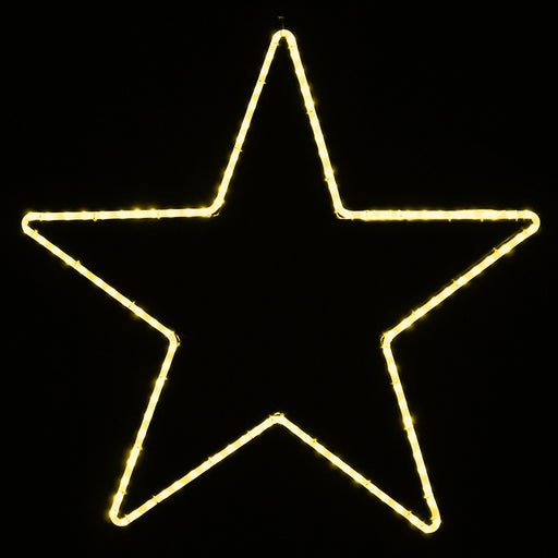 Warm White 5 point LED light Star motif, Outdoor window, holiday decoration
