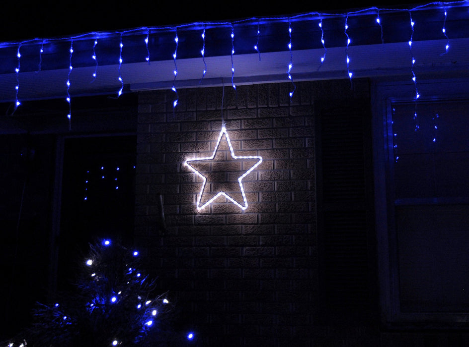 Pure White 5 point LED light Star motif, Outdoor window, holiday decoration