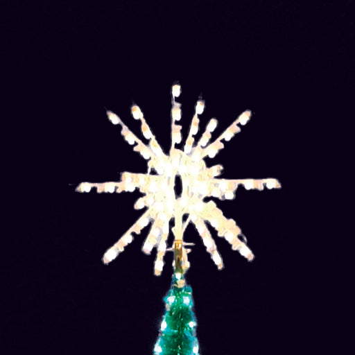 star, tree topper, led, aluminum frame, commercial quality, burst, christmas, outdoor, C7 bulbs