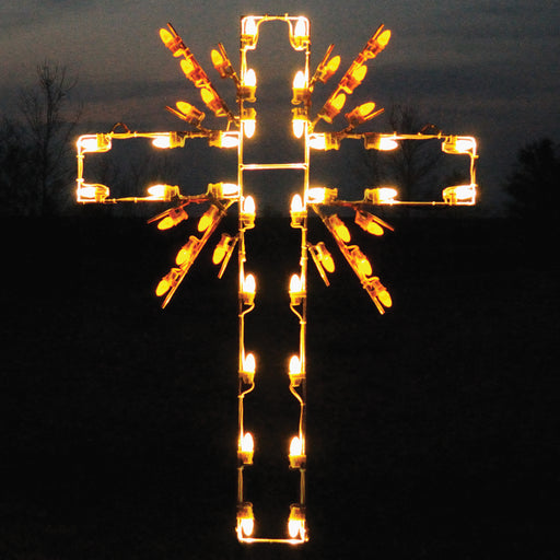 Radiant Cross, Christmas and Easter outdoor decoration, Holiday, Religious light motif