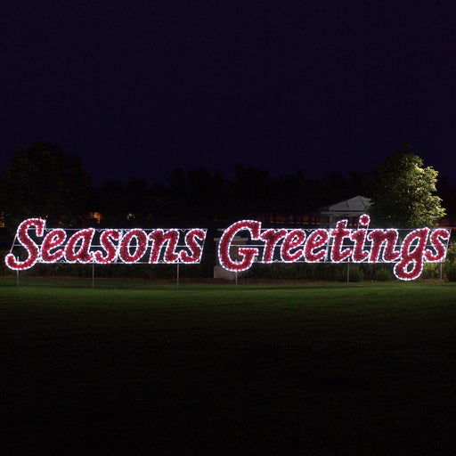 The commercial 40+ foot sign Holiday Seasons Greeting sign, Outdoor illuminating sign