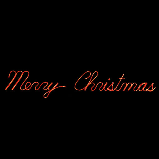 Merry Christmas Sign Red lighted outdoor motif, Holiday, traditional yard motifs