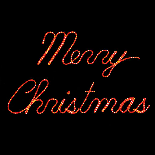 Small Merry Christmas rope light sign, Outdoor handing motif, Holiday, Christmas decoration
