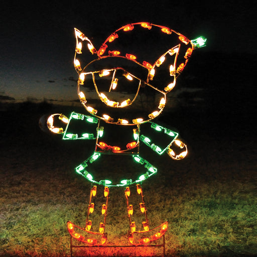 Elf - Girl, Santa's Helper, traditional Christmas holiday outdoor illuminating motifs