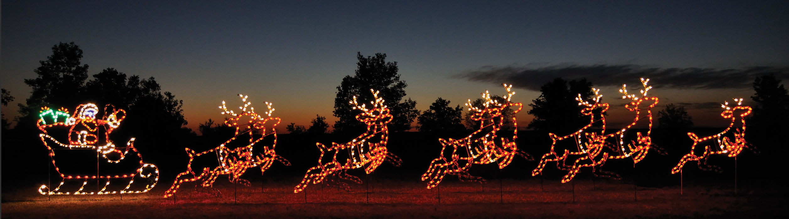 Animated Lead Reindeer C7 LED lights motif,  Christmas, holiday decoration,  professional artist Gene V. Dougherty