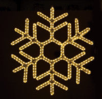 Hanging 36 Inch Hexagon Snowflake - Warm White (1011-W)