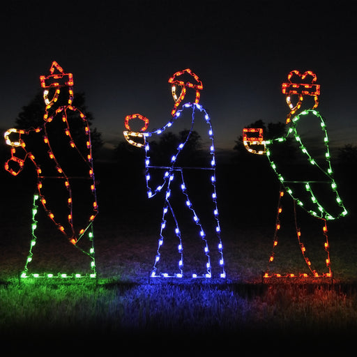 Life Size Three Wisemen LED light motifs, Outdoor, Nativity, Holiday decoration