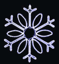 Hanging 60 Inch Single Loop Snowflake - Pure White (1042-P)