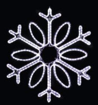 Hanging 36 Inch Single Loop Snowflake - Pure White  (1012-P)