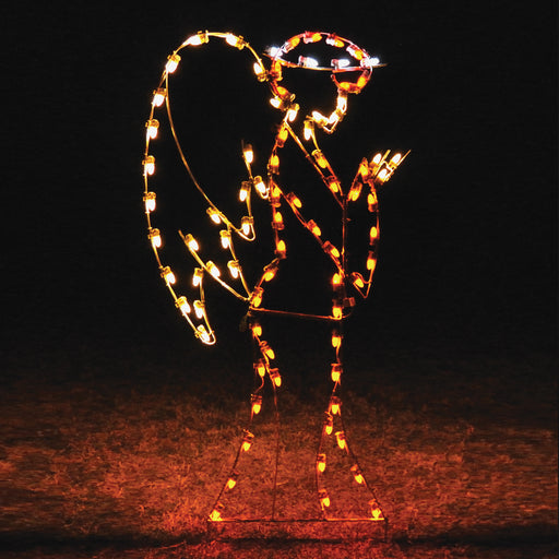 Holiday Traditional Christmas Guardian Angel, outdoor illuminating, religious, nativity light strings