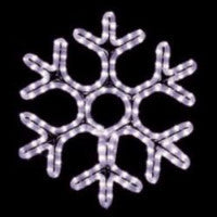 Hanging 18 Inch Hexagon Snowflake Decorations - Pure White  (1021-P)