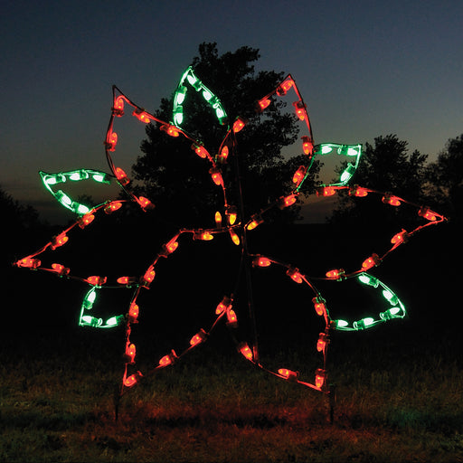 Large Poinsettia Holiday outdoor yard motif