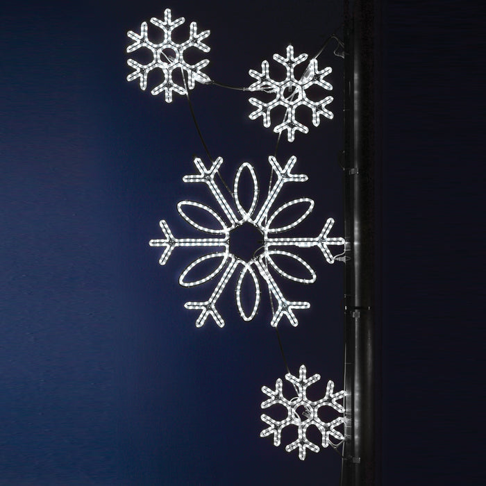 Pole Decoration - Snowflake Array