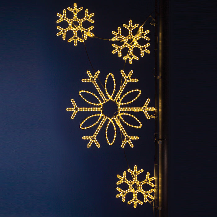 Pole Decoration - Snowflake Cluster
