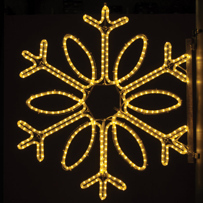 Pole Decoration - Single Loop Snowflake