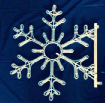 Pole Decoration - 3 Ft. 6-Point Snowflake - Blue  (1515-B)