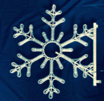 Pole Decoration - 3 Ft. 6-Point Snowflake - Pure White  (1515-P)