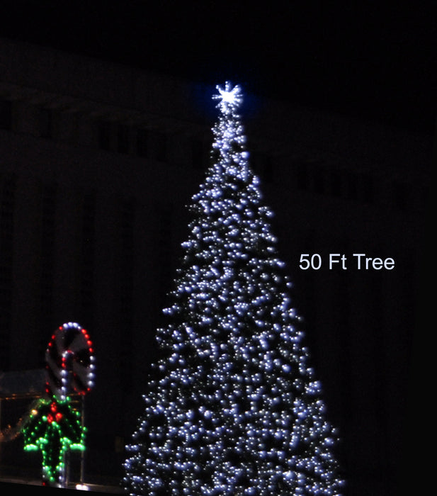 3D Tree - Twinkling Topper Pure White (1070-P)