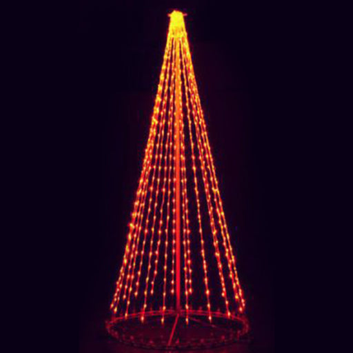 giant, life-size, commercial-grade, outdoor, Christmas, holiday, LED, bulb, lights, aluminum frame, quality, durable, motif, display, 2021, LED Tree, 3D, trees, orange