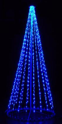 giant, life-size, commercial-grade, outdoor, Christmas, holiday, LED, bulb, lights, aluminum frame, quality, durable, motif, display, 2021, LED Tree, 3D, trees, blue