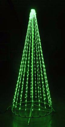 giant, life-size, commercial-grade, outdoor, Christmas, holiday, LED, bulb, lights, aluminum frame, quality, durable, motif, display, 2021, LED Tree, 3D, trees, green