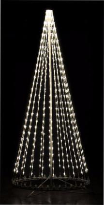 giant, life-size, commercial-grade, outdoor, Christmas, holiday, LED, bulb, lights, aluminum frame, quality, durable, motif, display, 2021, LED Tree, 3D, trees, white, pure white