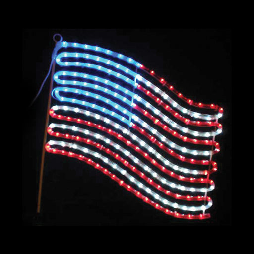 American Flag Rope Light LED Motif