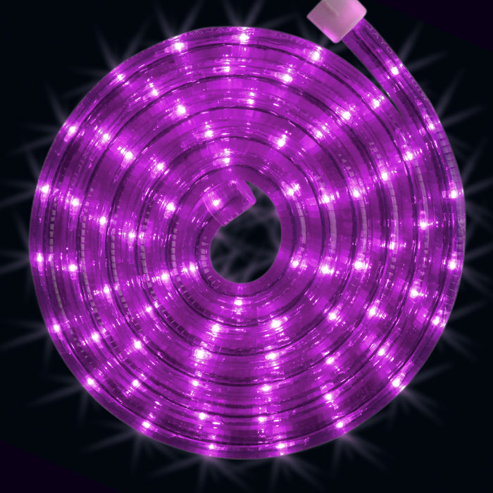 Purple, rope light, roll, splice, cut to size, commercial-grade, outdoor, Christmas, holiday, LED, quality, durable, 2021