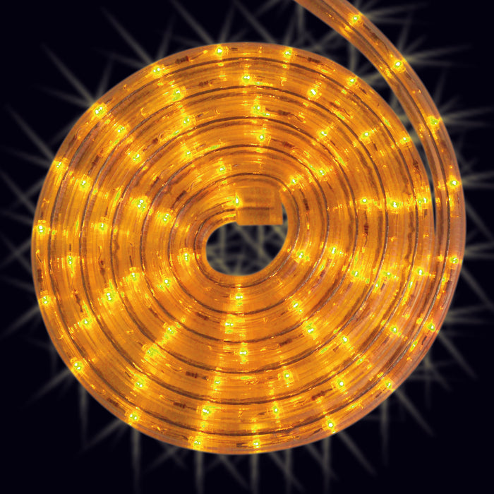 Yellow, rope light, roll, splice, cut to size, commercial-grade, outdoor, Christmas, holiday, LED, quality, durable, 2021