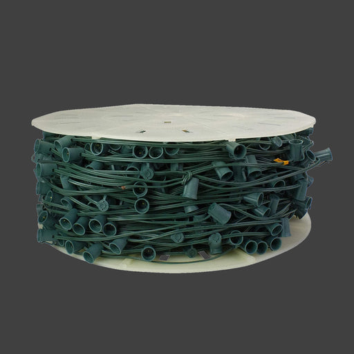 outdoor, indoor, LED, bulb, lights, quality, durable, commercial-grade, replacement, C7, 2021, green, wire, spool, bulk, roll, sockets, spt-1, 18 awg