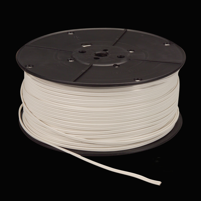 18 awg SPT-1 Wire - WHITE - 500 Ft. Roll