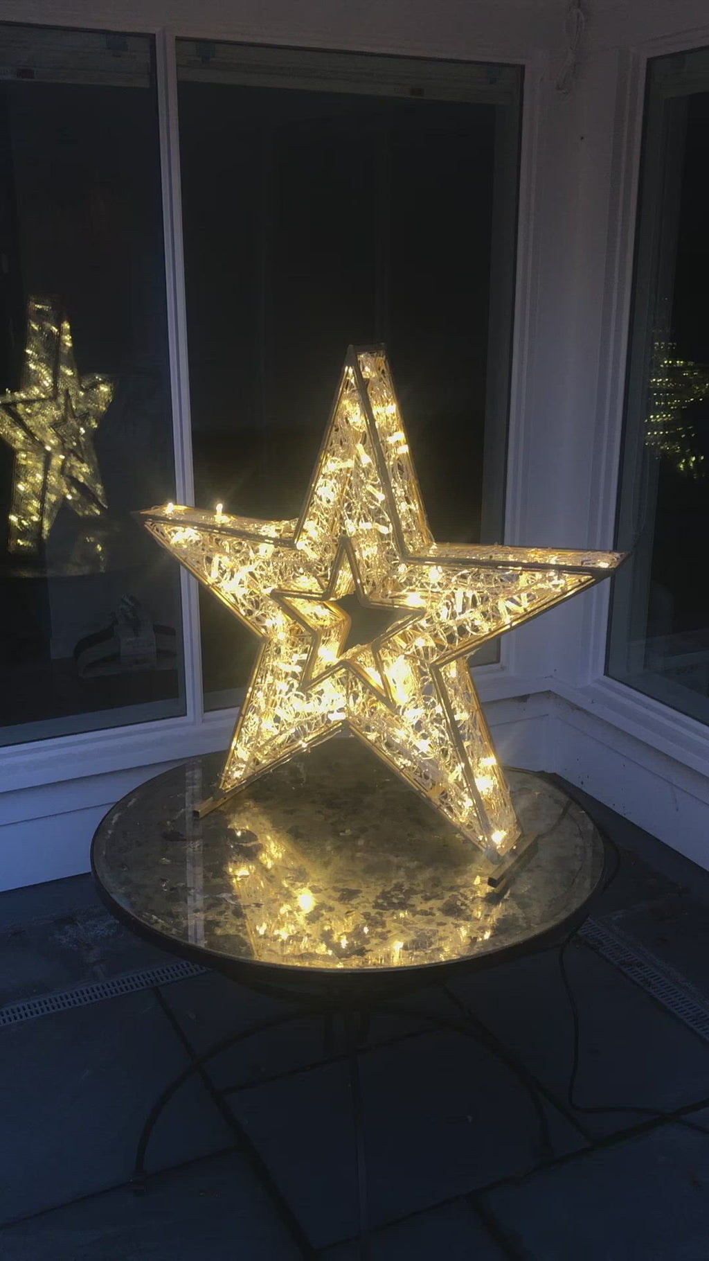 3D Selfie Motif Star LED 2020 Holiday Lights Christmas Decoration Animated Twinkle