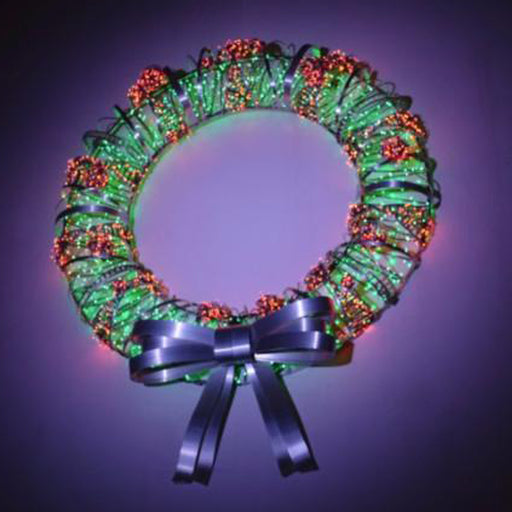 Large Custom Christmas Wreath LED Aluminum