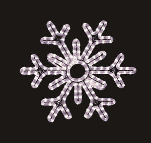 Hanging 60 Inch 6-Point Snowflake - Pure White (1040-P)